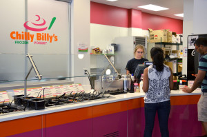 Chilly Billy's customers order frozen yogurt the afternoon of Wednesday, August 5, 2015.